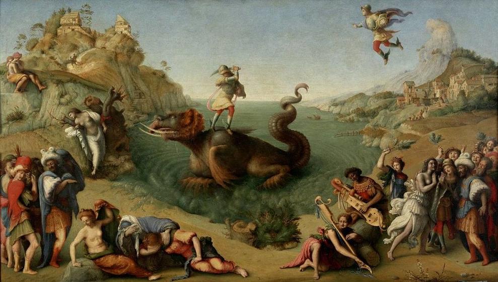 Piero di Cosimo, Liberazione di Andromeda (1520 ca.), Galleria degli Uffizi, Firenze