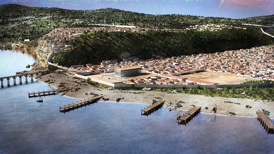 Ricostruzione della polis di Himera, nei pressi dell'attuale Termini Imerese (Pa)