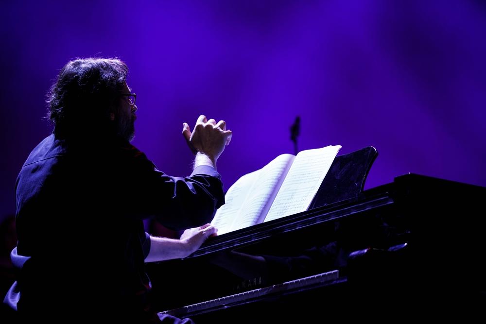 Il pianista Francesco Lotoro durante il recente concerto all'Auditorium Parco della Musica di Roma - Image by Musadoc
