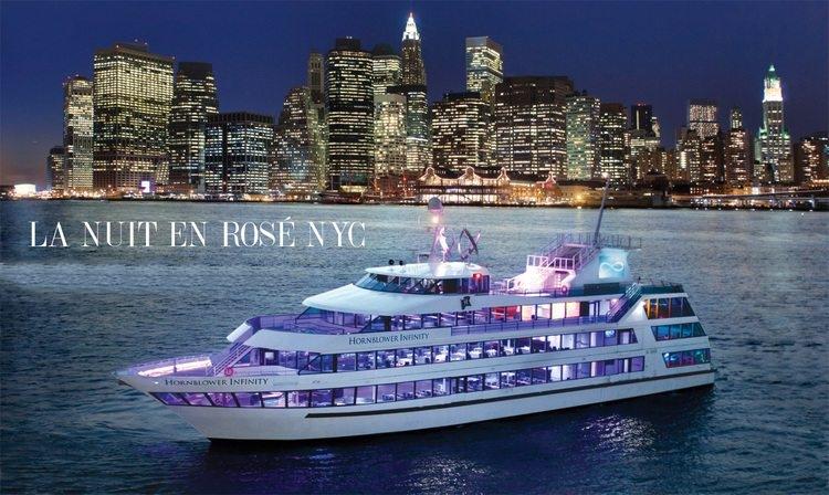 "L'Hornblower Infinity Yacht che ospiterà ""La Nuit en Rosè"" - Image by La Nuit en Rosè, NY"