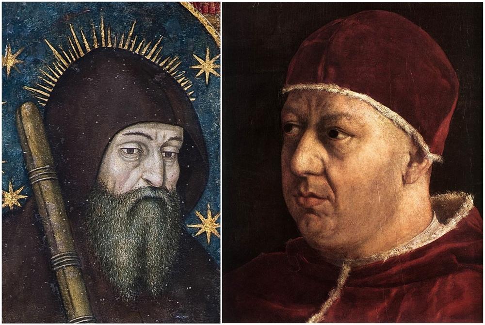 San Francesco di Paolo | Papa Leone X (part. da Raffaello, 1519, Uffizi, Firenze)