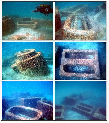 I Sarcofagi dei Re nel mare di S. Pietro in Bevagna (Taranto) - Image by MIBAC