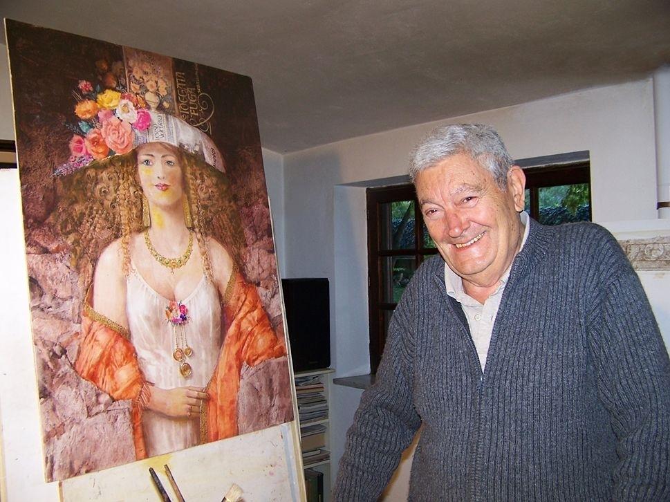 Costantino Di Ciancio nella sua casa-studio di S. Benedetto Ullano (Cs) - Ph. © Adele Filice