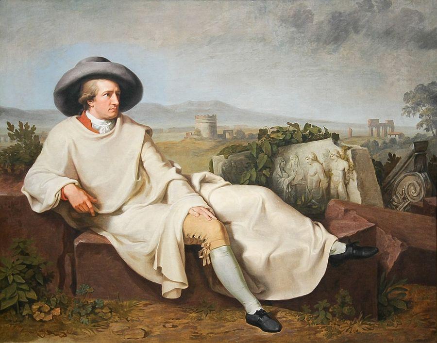 Johann Heinrich Wilhelm Tischbein - Goethe nella campagna romana, Städel-Museum, Francoforte