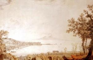 Christoph Heinrich Kniep - Il golfo di Napoli dal Vesuvio, 1787