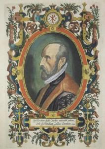 Abraham Ortelius in una incisione di Philippe Galle