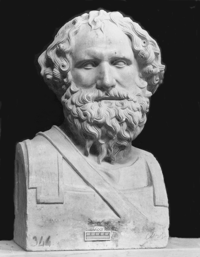 Cosiddetto busto di Archimede, dalla Villa dei Papiri di Ercolano, Museo Archeologico di Napoli
