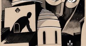 Diabolik a Trebisacce. Il celebre personaggio dei fumetti per le vie della cittadina jonica in una tavola di Giuseppe Palumbo