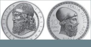 I Bronzi di Riace celebrati dalla Zecca dello Stato con una moneta commemorativa da 10 euro