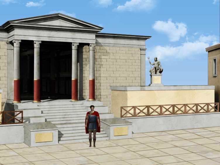 "Un frame dell'adventure game in 3D ""Pompeii mala tempora currunt"" - Ph. Imago M"