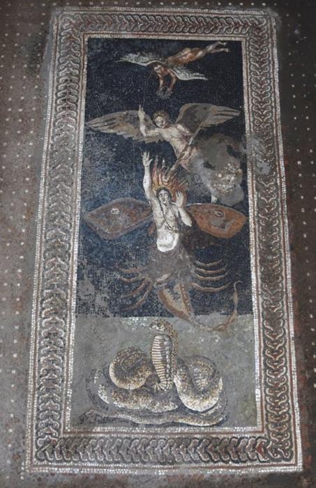 Casa di Orione, mosaici