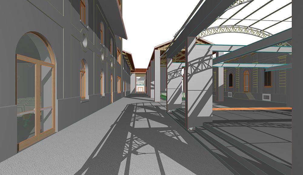 Cittadella della Musica Concentrazionaria, rendering