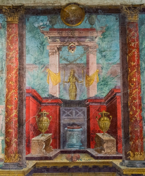 Sono al MET di New York gli spettacolari affreschi di una villa romana di Boscoreale