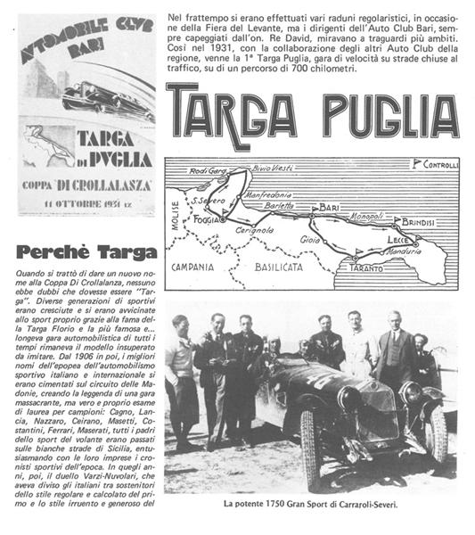 Targa Puglia 2019