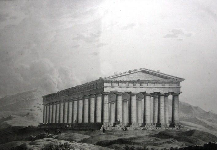 Il Tempio di Segesta in un'incisione del '700