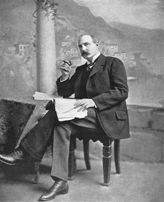 Ritratto di F.M.Crawford nella sua villa di S. Agnello (Napoli)