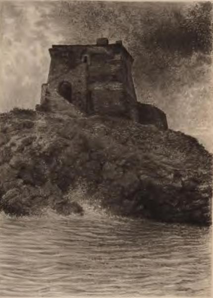 La torre di Crawford a S. Nicola Arcella, 1900