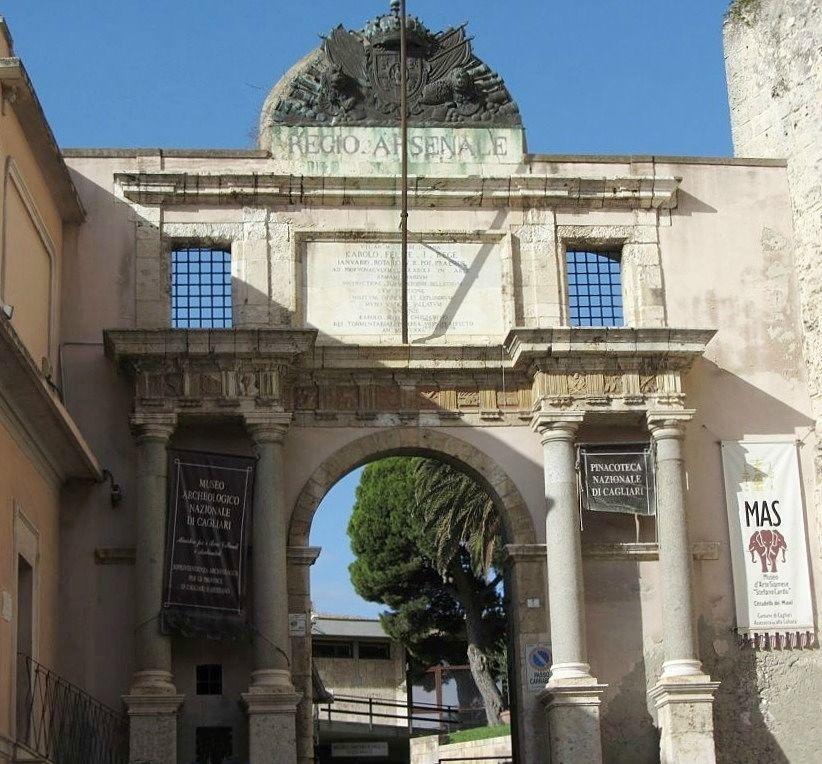 Ingresso della Cittadella dei Musei, Cagliari