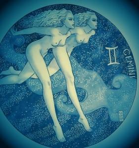 Milo Manara - Tavola sui Gemelli della serie dedicata allo Zodiaco