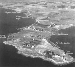 Visione aerea di Capo Colonna (Kr)