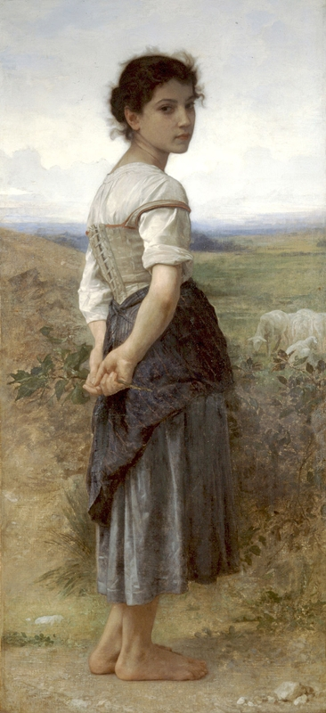 William-Adolphe Bouguereau - Giovane pastorella, 1885, San Diego Museum of Art - Public domain
