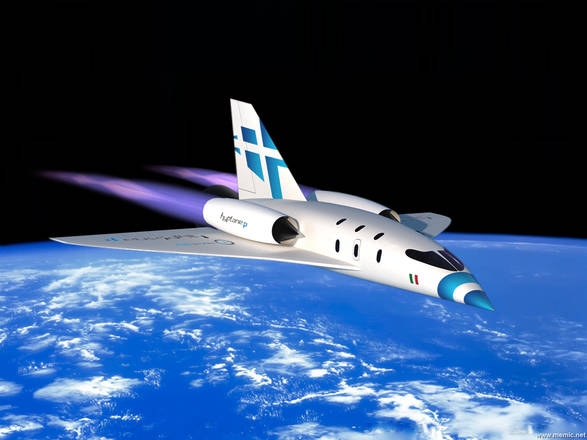 Rappresentazione grafica di un Hyplane - Ph. CNS (Center for Near Space)