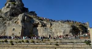 Questa mattina a Matera: la processione dei pastori ha aperto i festeggiamenti della Madonna della Bruna