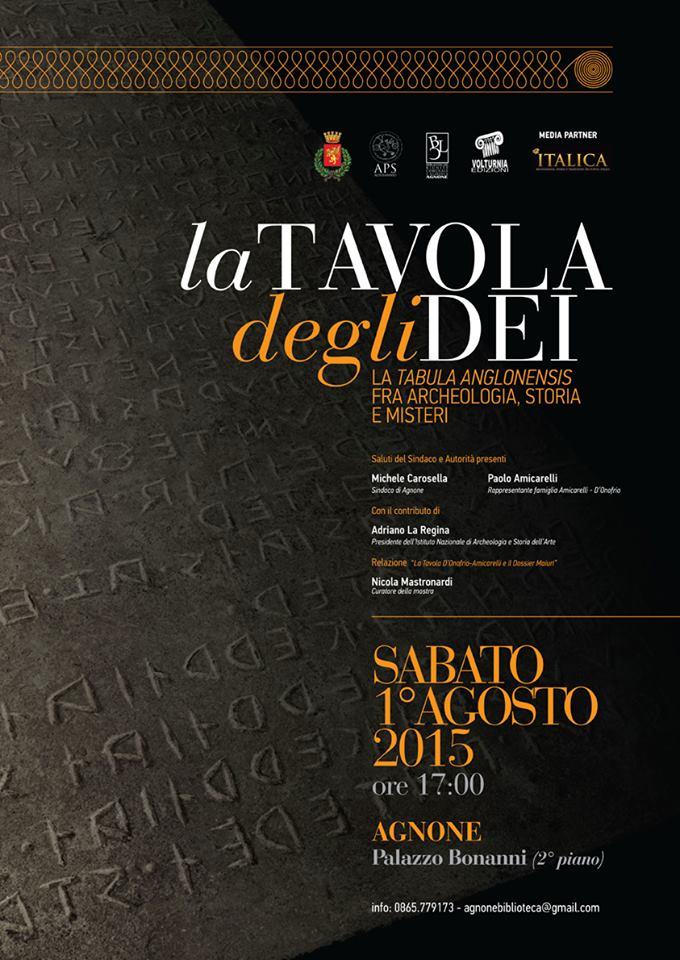 La Tavola degli Dei - Agnone (Isernia) in mostra dal 1° agosto 2015