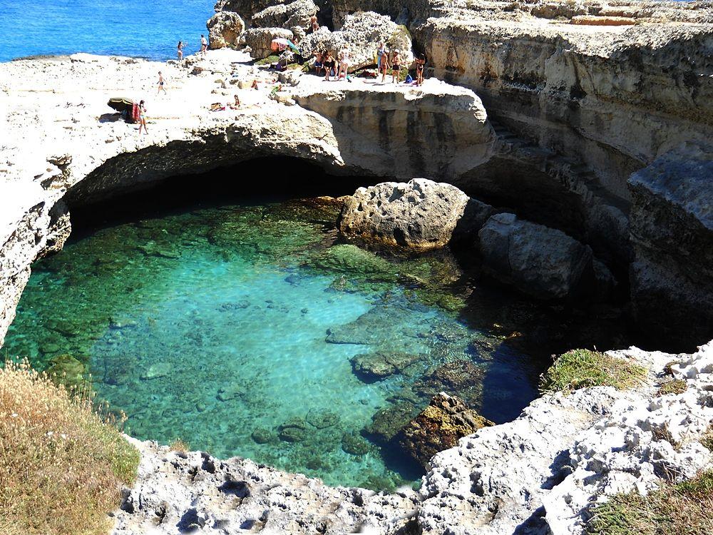 Puglia - Grotta della Poesia, Roca Vecchia, Melendugno (Lecce) - Ph. Psymark | CCBY-SA4.0