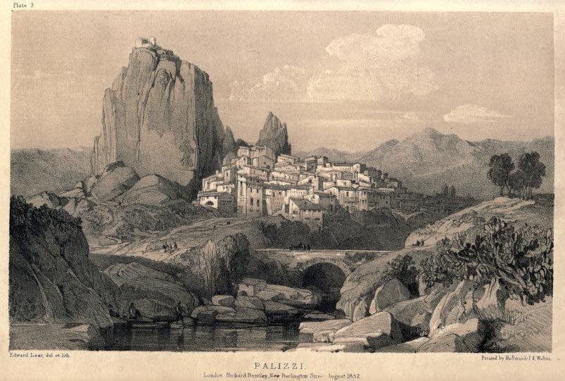 Edward Lear - Journals of a laindscape painter in Southern Calabria & C. - Veduta di Palizzi (Reggio Calabria) - 1852