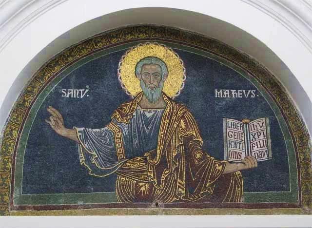 Effigie di S. Matteo sul portale della Duomo di Salerno