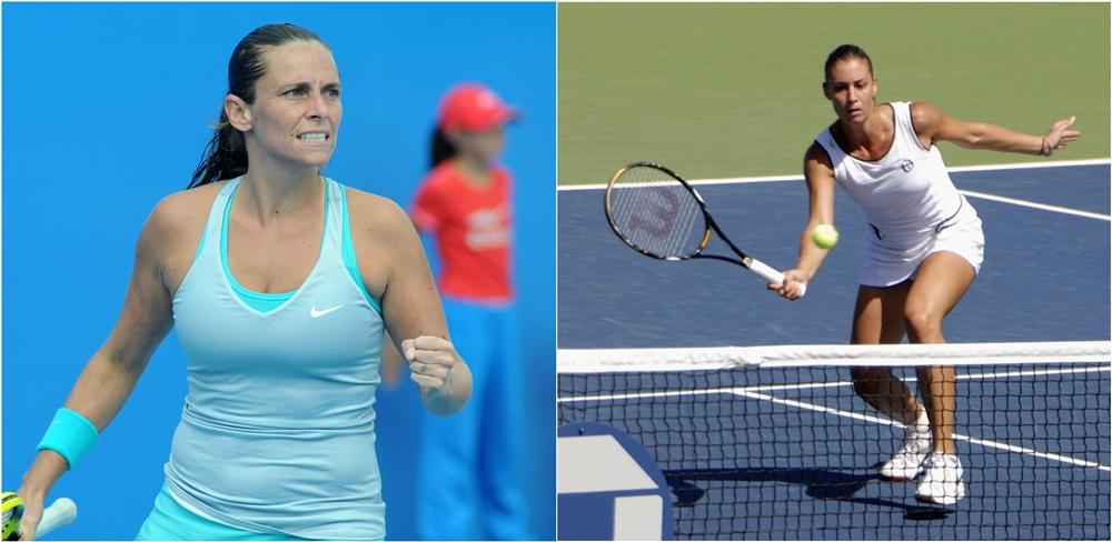 Le due tenniste pugliesi finaliste agli USOpen 2015: da sin. Roberta Vinci, di Taranto, e Flavia Pennetta, di Brindisi - Ph. Tatiana | CCBY-SA2.0 e Ph. Charlie Cowins | CCBY2.0