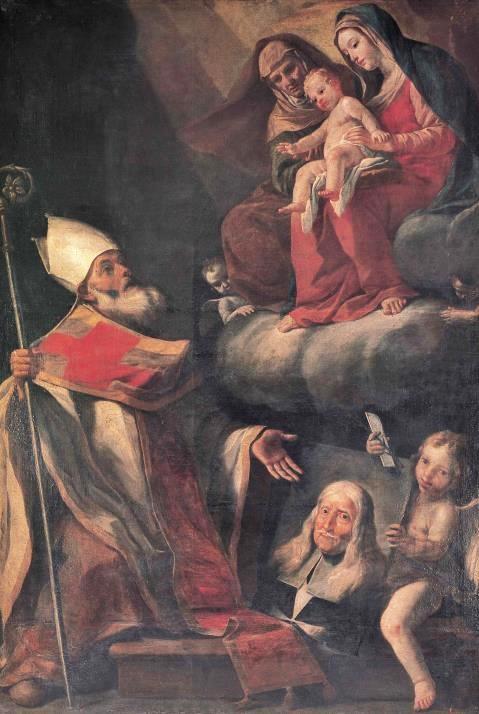 Mattia Preti - San Gregorio Taumaturgo, la Vergine con il Bambino, Sant'Anna e il ritratto del Gran Maestro fra' Gregorio Carafa, 16