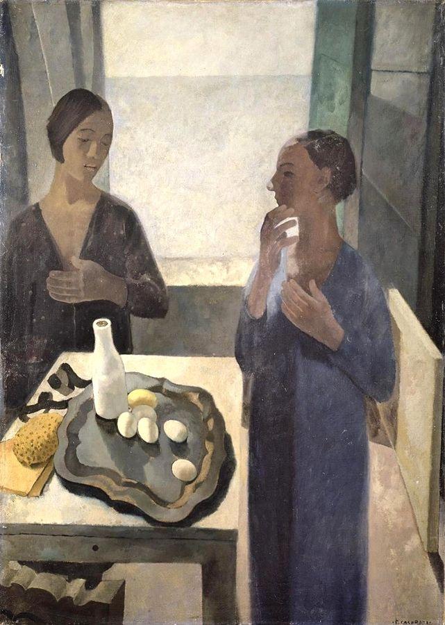 Felice Casorati, Ragazze a Nervi, 1929, Milano, GAM (Galleria d'arte moderna)