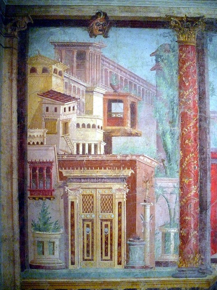 Part. di affresco dal cubiculum della Villa di Publio F. Sinistore, Boscoreale, Metropolitan Museum - Ph. Ad Meskens | Public domain