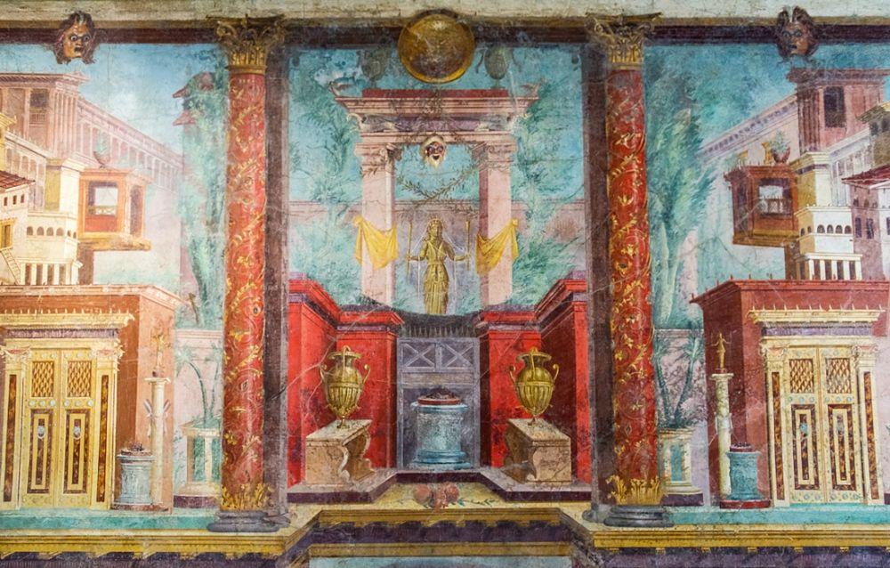 Particolare degli affreschi del cubiculum della Villa di Publio Fannio Sinistore, I sec. a.C., Boscoreale (Napoli) - Metropolitan Museum of Art, New York - Ph. courtesy of Katy Hollbach