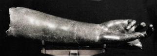 Avambraccio greco in bronzo, 81 cm, da Scolacium/Skylletion