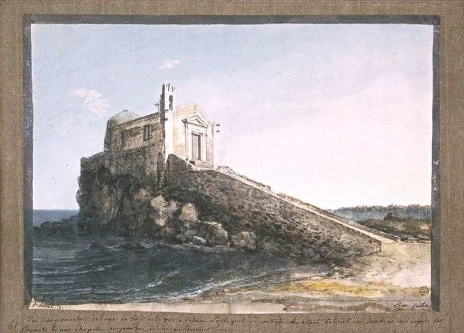 Jean-Pierre Houël - Chiesa Salvator Mundi, Catania, luogo reale, ormai sparito, di ambientazione della novella di Verga - 1770, Louvre, Paris