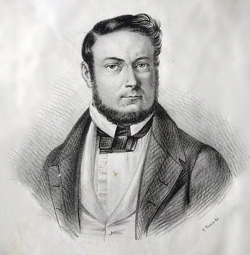 Cesare Malpica (1804-1848) in un'incisione d'epoca