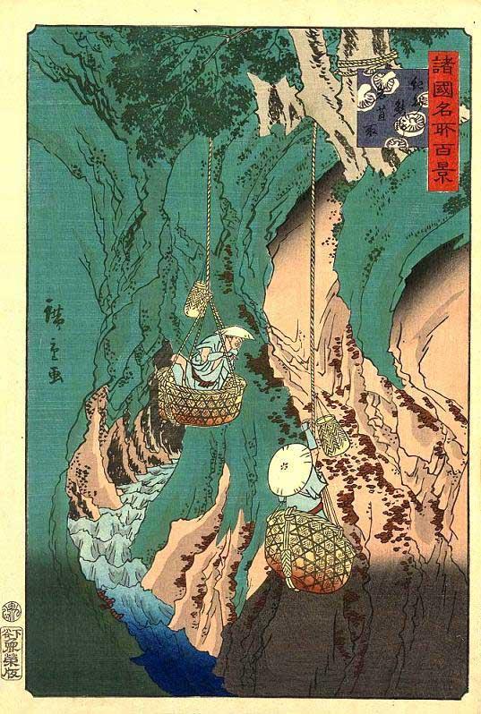 La raccolta dei licheni commestibili Iwatake in Giappone - Image source