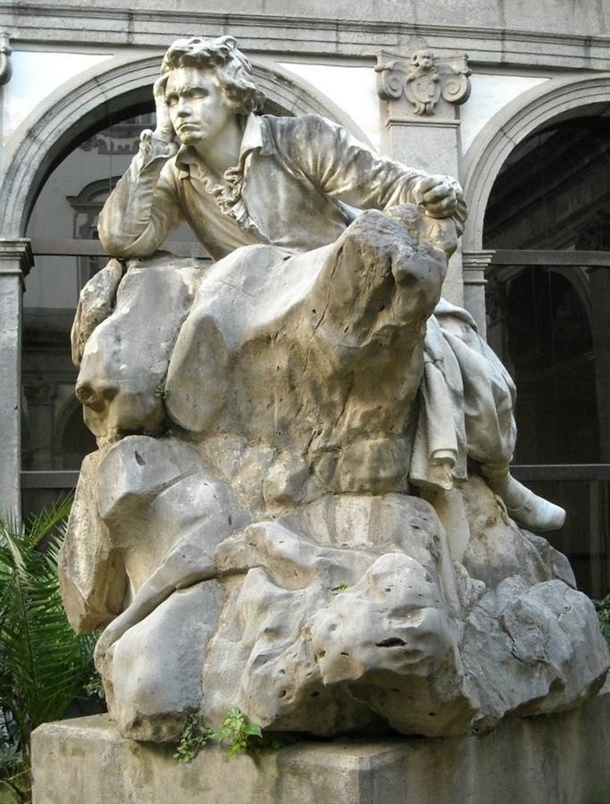 Francesco Jerace - Monumentoa Beethoven, I895, Conservatorio di S. Pietro a Majella - Ph. Conservatorio di Napoli