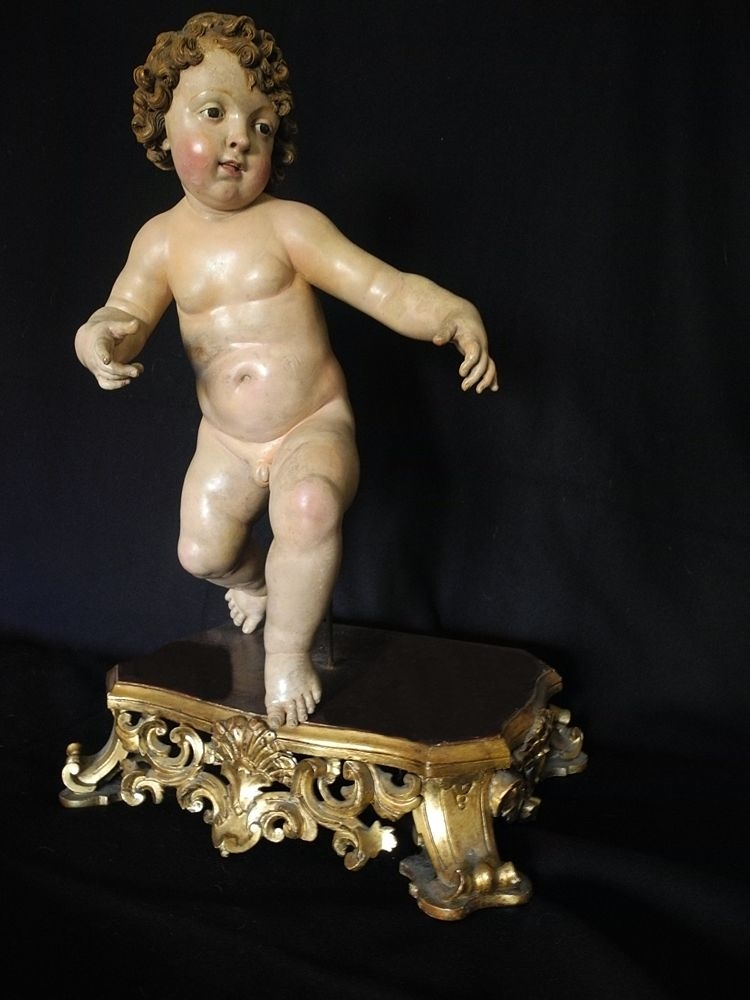 Il Bambin Gesù di Giuseppe Sanmartino, XVIII sec., esposto a Napoli per il Festival Internazionale del Settecento Musicale Napoletano - Coll. privata