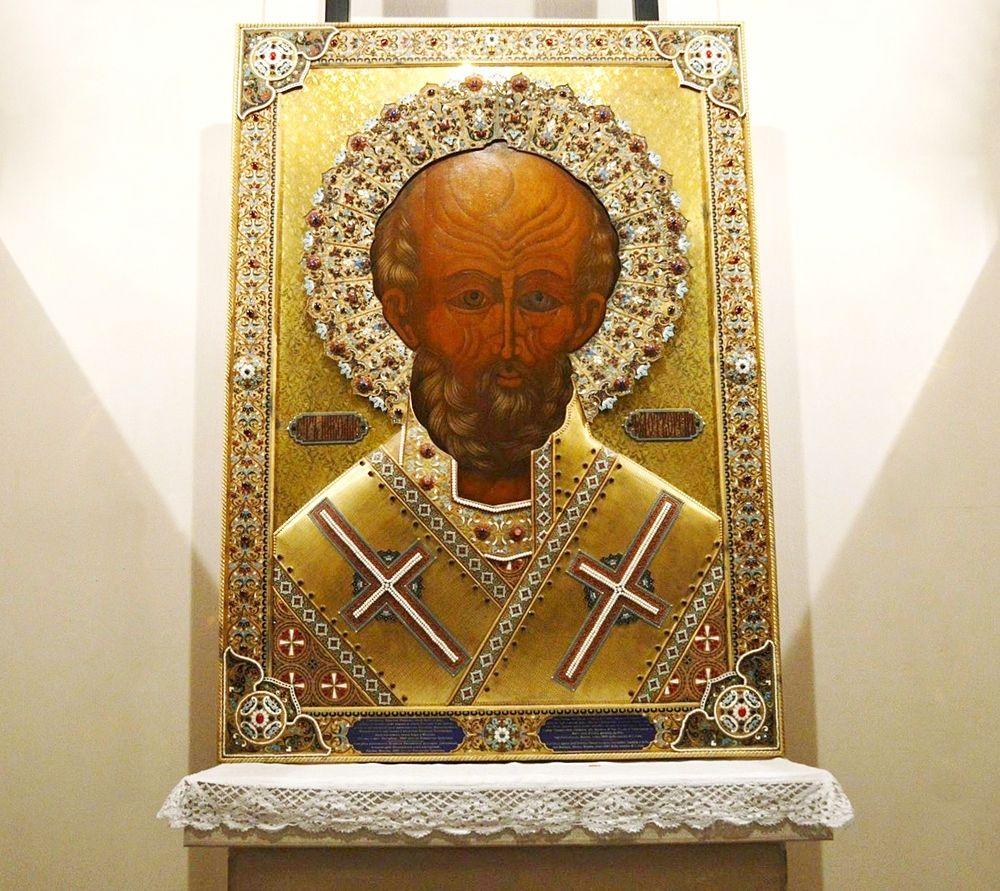 San Nicola di Myra, icona ortodossa, cripata della Basilica di S. Nicola, Bari - Ph. © Angela Capurso