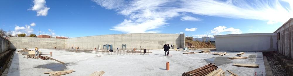 Immagine della fase di costruzione dell'hangar/bunker destinato ad accogliere l'acceleratore di particelle STAR, Arcavacata di Rende (Cosenza) - Ph. UNICAL