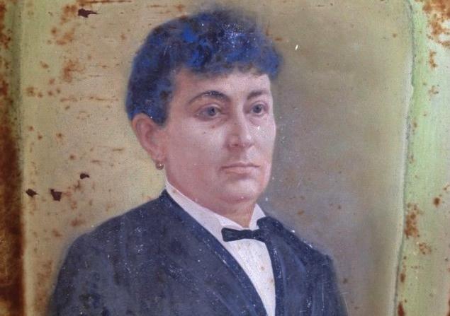 La zia Enrichetta nel ritratto sulla sua tomba - Ph. Simonetta Sciandivasci