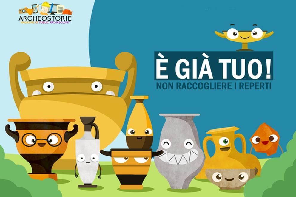 L'immagine scelta da ARCHEOSTORIE per la campagna informativa sull'archeologia rivolta ai cittadini
