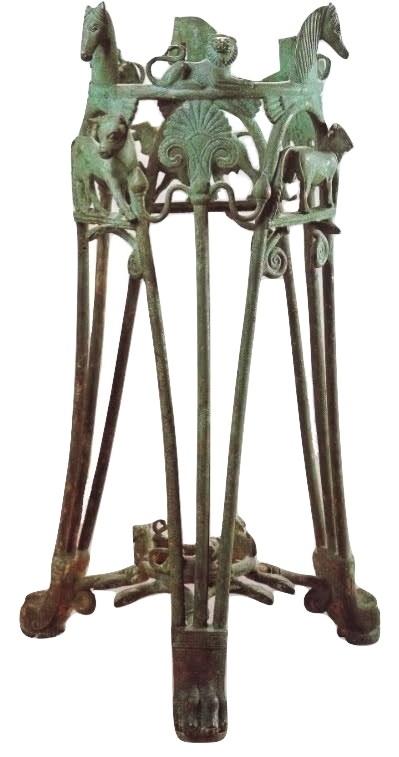 Il Tripode di Metaponto, bronzo, VI sec. a.C. | Altes Museum, Berlino