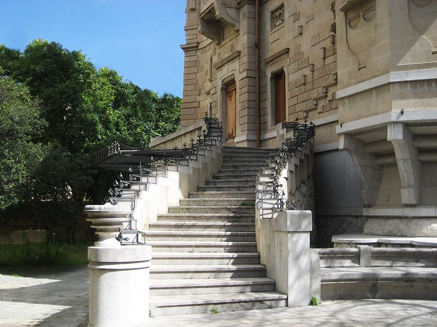Scalone esterno del Villino Florio, XX sec., Palermo - Ph. Wilfrid Haufmann