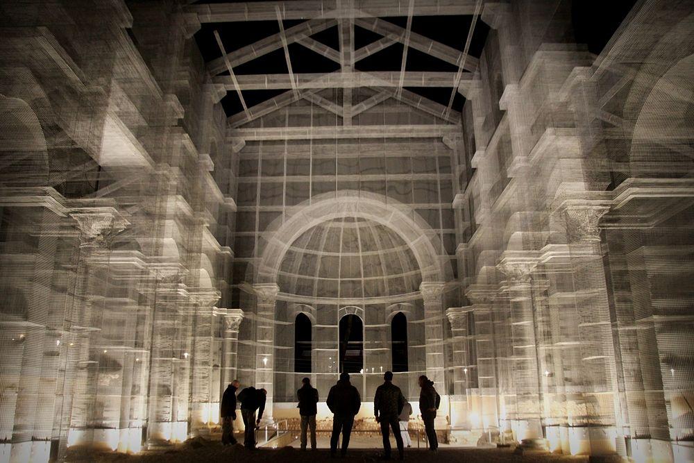 Visione della Basilica Paleocristiana di Edoardo Tresoldi vista dall'interno - Ph. © Giacomo Pepe