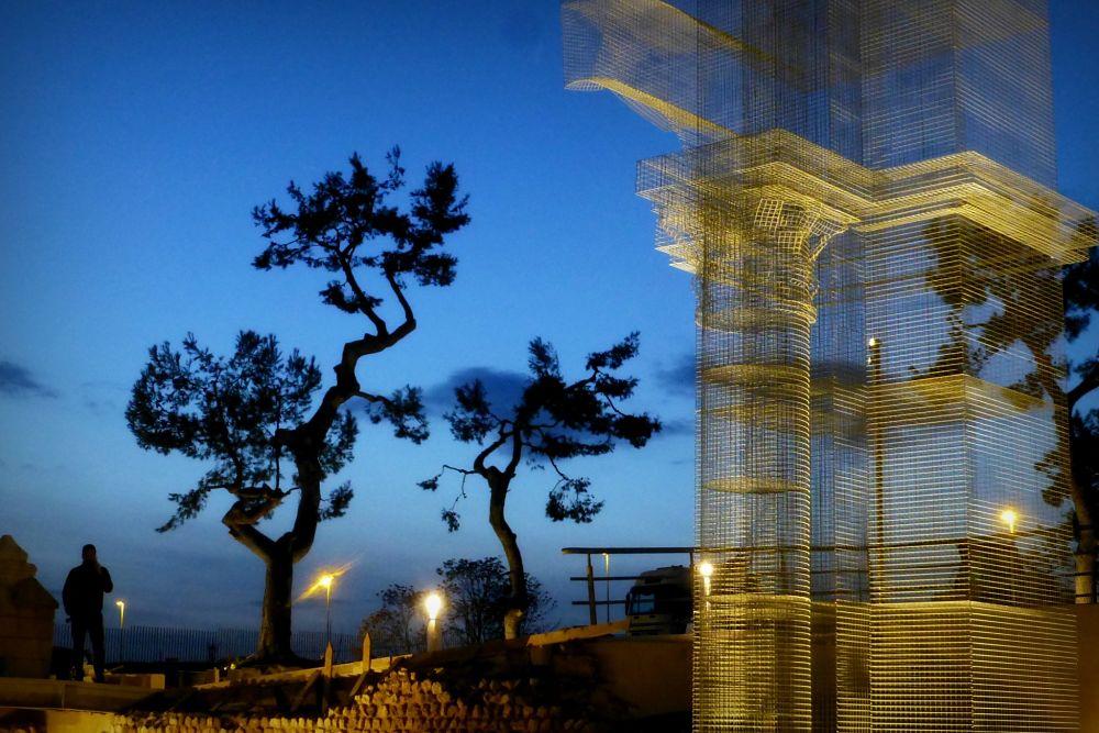 Particolare della Basilica Paleocristiana di Edoardo Tresoldi al tramonto, Siponto, Manfredonia (Fg) - Ph. © Giacomo Pepe